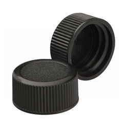 Wheaton Polypropylene Solid Top Screw Cap - Black