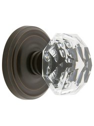Emtek Classic Rosette Set with Diamond Knob-Double Dummy Oil Rubbed Bronze