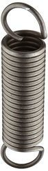 """Small Parts Music Wire Extension Spring 10 Pcs 6"""" Free Length 15.4 lbs/in"""