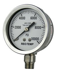"REOTEMP Heavy Duty Repairable Pressure Gauge - 1/4"" Male NPT Connection"