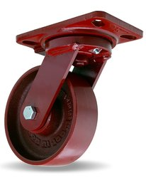 "Hamilton Heavy Service Plate Caster Swivel Metal Wheel - 6"" Wheel Diameter"