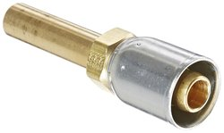 Eaton Coll O Crimp 08E-T58 Straight Tube Brass Fitting
