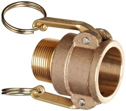 """PT Coupling Brass Cam & Groove Hose Fitting - Size: 1-1/4"""""""