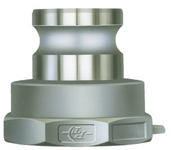"""PT Coupling Aluminum Reducer Cam & Groove Hose Fitting - Size: 2-1/2"""" x 2"""""""