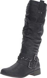 Xoxo Knee High Maeko Boots: Black/6.5