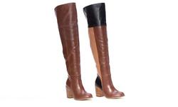 Tall Patchwork Boot    L6052-27    Cognac    10