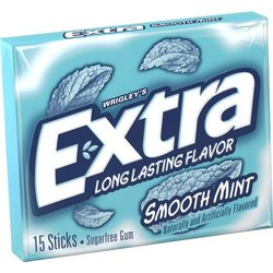 Wrigley Extra Chewing Gum 10PK - Smooth Mint - 15 Sticks