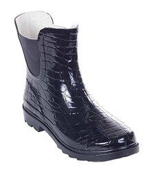 Women's Ankle Rain Boots: Croco - 9