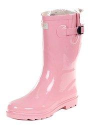 Women's 11 Inch Rubber Rain Boots: Pink/9
