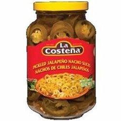 La Costena Pickled Jalapeno Nacho Slices - Pack of 4 - 26 oz each