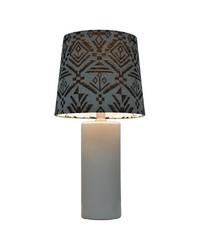 Nate Berkus Embossed Floral Ceramic Table Lamp - White