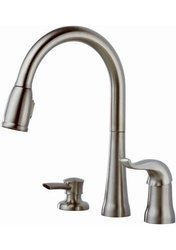 Delta Single Handle Pull-Down Kitchen Faucet With Soap Or Lotion Dispenser