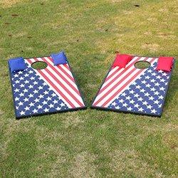 Sports Festival CornHole Bean Bag Toss Game Set - Superior Aluminum Flag