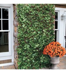 Windscreen4less Expandable Artificial Leaf Leaves Faux Privacy Fence Panel