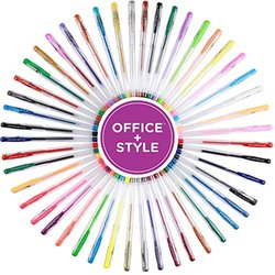 Office + Style Gel Pens Set, Non-Toxic, Water Resistant, Great for Sketching, Drawing, Calligraphy (Pack of 48)