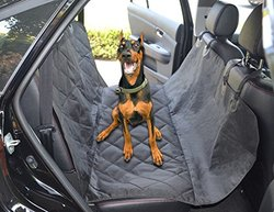 Anjuren Dog car Seat Cover Car Bench Seat Cover for Pets - Black