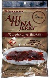 Itsumo Wild Ahi Tuna Jerky Sweet Sashimi Grade Yellowfin Tuna Fish 3 Pks