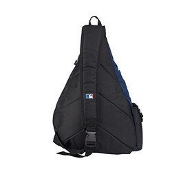 MLB Minnesota Twins Leadoff Sling Backpack, 20-Inch, Black/Navy