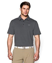 Men's Playoff Performance Striped Golf Polo - Ash Grey - Size: Large