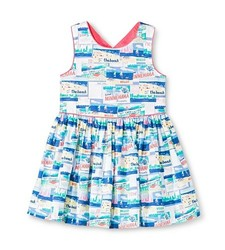 Oshkosh Toddler Girls' Postcard Dress - Blue - Size: 5T