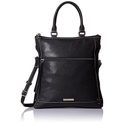 Nine West Womens New Frontier Black Shoulder Handbag Purse