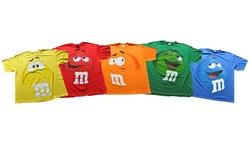 M&m Jumbo Fade Adult T-shirt: Orange/small