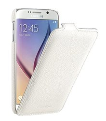 Melkco - Premium Leather Case for Samsung Galaxy S6 - Jacka Type (White) - SSGLS6LCJT1WELC