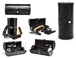 AtlnStyle Travel Shoe Shine Kit in Elegant Compact Case 6-Piece