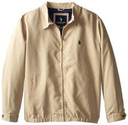 U.S. Polo Assn Men's Solid Color Golf Jacket - Khaki - Size: Medium