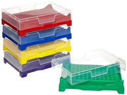 BrandTech PP PCR Stacked Rack with Locking Lid - Multi Colored