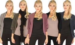 Lyss Loo Comin' Up Cozy Long Sleeve Cocoon Cardigan: Pinot Heather/small