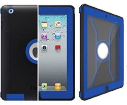 OtterBox Defender Series Case with Screen Protector and Stand for iPad 4th Generation, iPad 2 and 3 - Navy/Blue