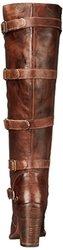 bed stu Women's Statute Motorcycle Boot, Teak Rustic, 10 M US