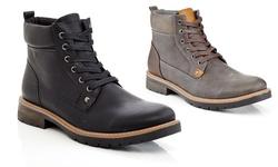 Marco Vitale Men's Lace-Up Combat Boots - Black - Size: 9.5