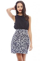 AX Paris Two Tone Animal Print Multi Dress