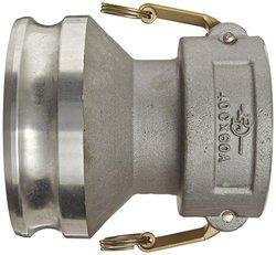 "PT Coupling CXA 4""C X 6""A Aluminum Reducer Brass Cam & Groove Hose Fitting"