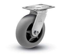 "Shepherd 600 lbs Capacity 6"" Diameter TPR Donut Wheel Swivel Caster"