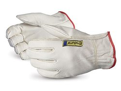 Superior Endura Cowhide Driver Work Gloves - Pk of 1 Dozen - White/M