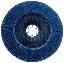 """3M 7""""-Dia. 7/8""""-Center Hole Dia. 40-Grit YF-Weight Flap Disc - Pack of 5"""