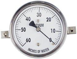 PIC Gauge LP2-254-60V LP Center Back Dry Non-Fillable Low Pressure Gauge