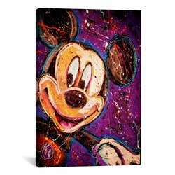 "iCanvasART Rock Demarco 18""x12"" Mickey Canvas Art Print"