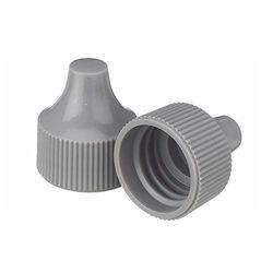 Wheaton 242525 Gray Polypropylene Dropping Bottle Cap - Case of 100