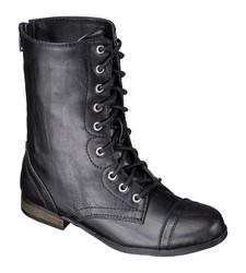Cherokee Girls' Hermina Combat Boots - Black - Size: 4