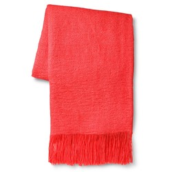 """Sabrina Soto Solid Throw - Coral - Size: 50""""x60"""""""