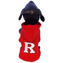 NCAA Rutgers Scarlet Knights Cotton Lycra Hooded Dog Shirt, Small Red