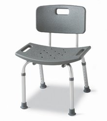 Medline Guardian Bath Bench with Back - Gray