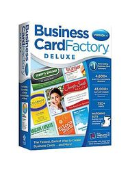 Business Card Factory Deluxe 4.0 Printing Software for Windows