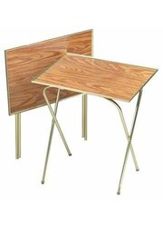 "Quaker 21"" X 15"" Oak Laminated Tops Tray Table - Pack of 2"