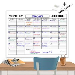 Laminated Wall Calendar 3x4-Feet Dry Erase Wall Calendar with Expo Marker and Scotch Mounting Tape