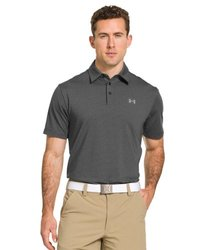 Under Armour Elevated Striped Performance Polo: Black, X-large